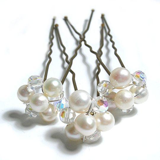 Pearl & Crystal Bridal Hairpin