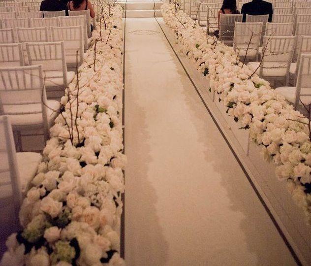 Aisle décor