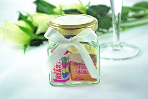Wedding Favour Jar with Label