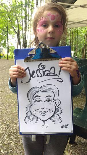 Kids caricaturist