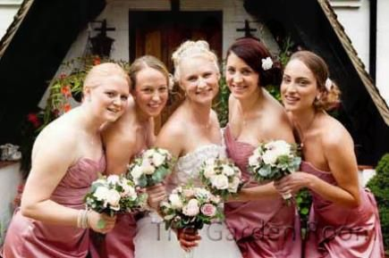 A summer wedding with roses