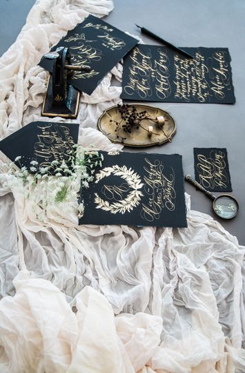 Black and gold luxury design