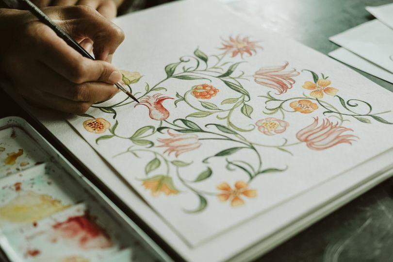 Detailed watercolour designs