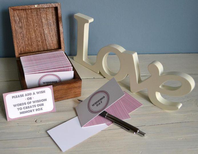 Small Wedding Memory Box