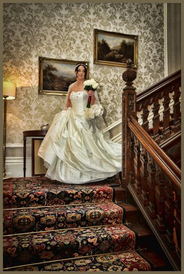 Bride and stairs
