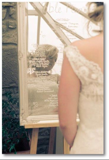 Handwritten Mirror Table Plan
