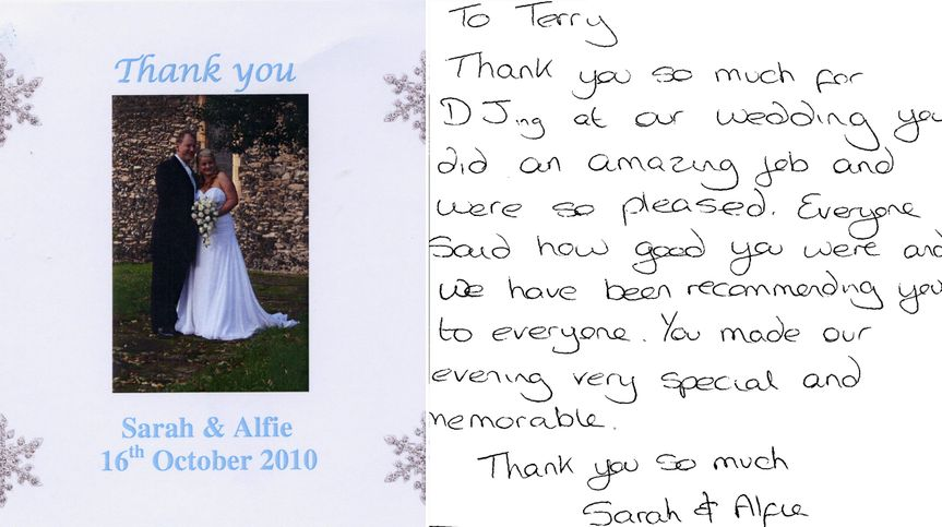Wedding DJ Terry J Lewis - Testimonial