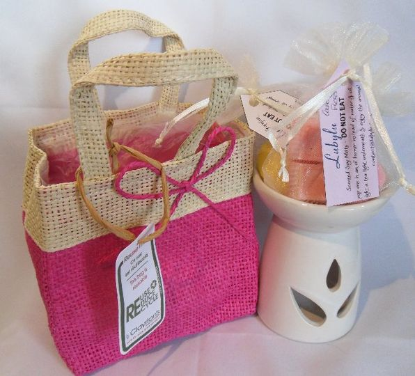 Gift Bag set - bright pink