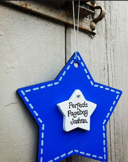 Personalised Wooden Pageboy Star