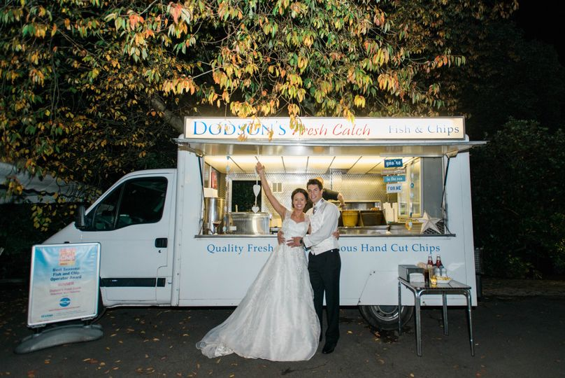 Wedding fish and chips catering