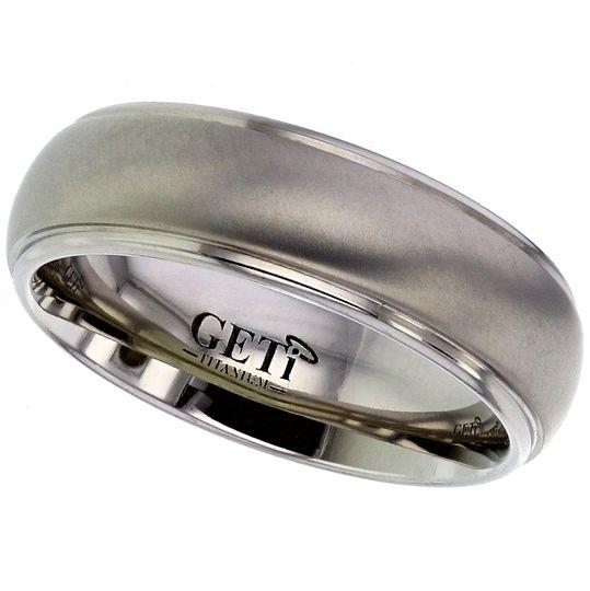 Dome Titanium ring