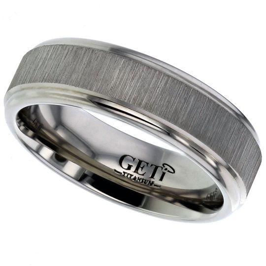 Twin finish Titanium ring