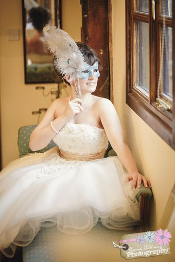 Teal Bridal Mask