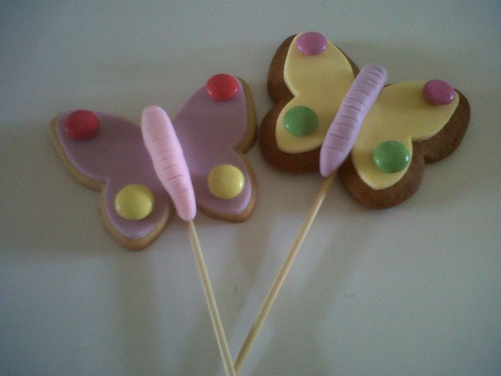 Butterfly lollipop cookies