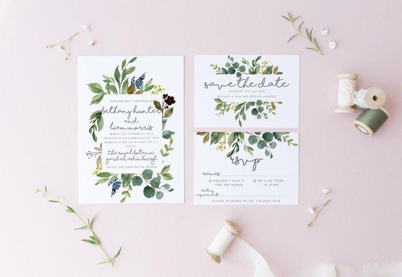 Botanical Invitation Set