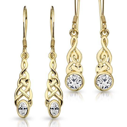 9ct Gold Celtic Earrings
