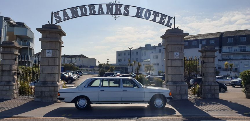 At the Sandbanks Hotel...