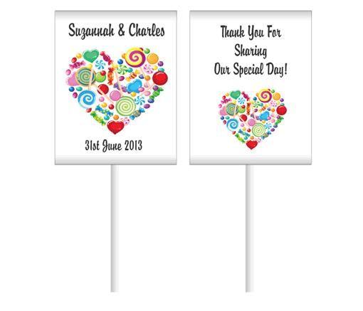 Candy Heart Personalised Lollipops