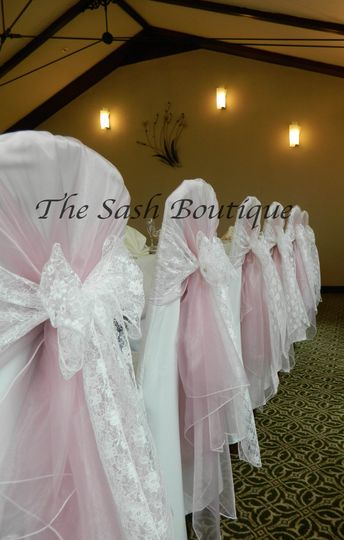 Organza overlays & lace sashes
