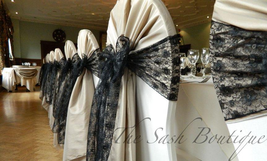 Taffeta hoods & lace sashes