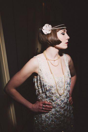 Felt flower & pearl headband