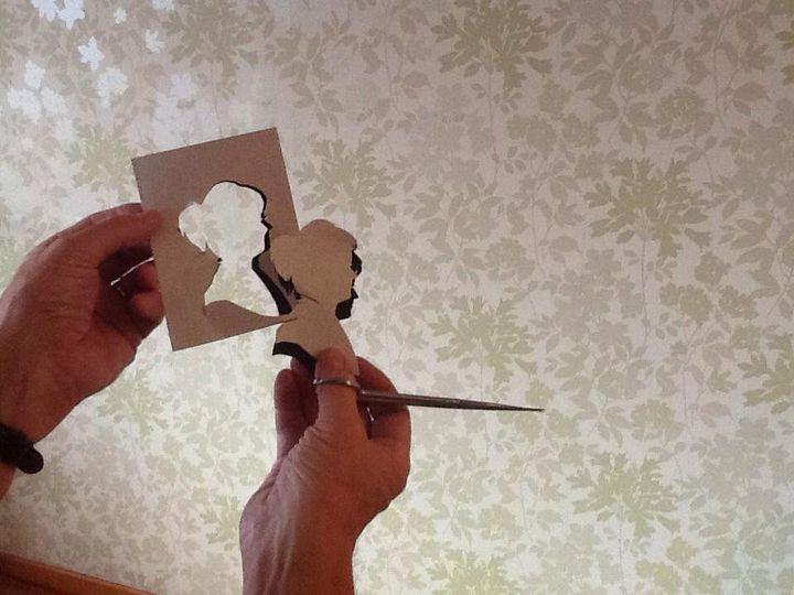 A cut silhoeutte