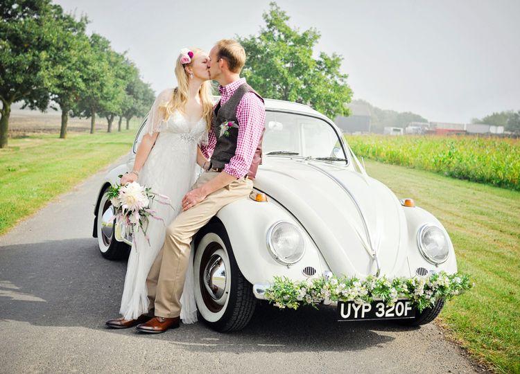 Vintage VW Beetle wedding car