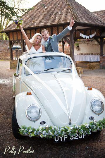 Beetle wedding car