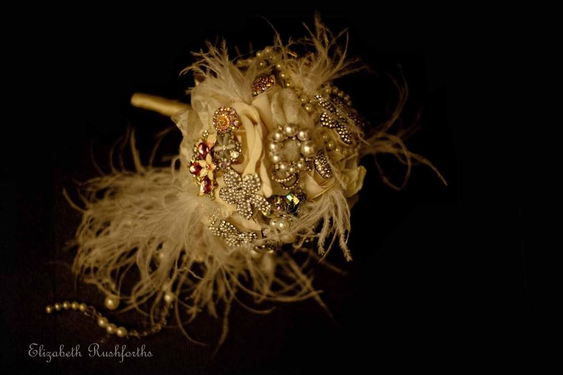 Brooches and feathers