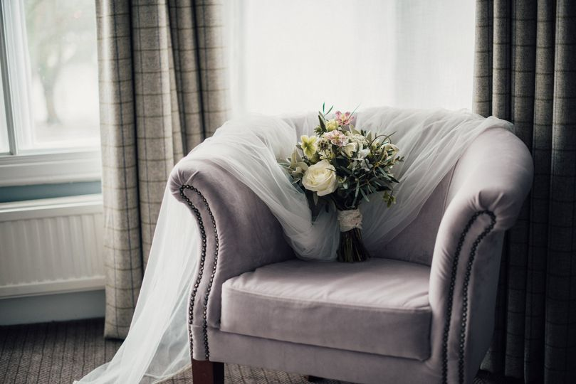 Bouquet in Chair