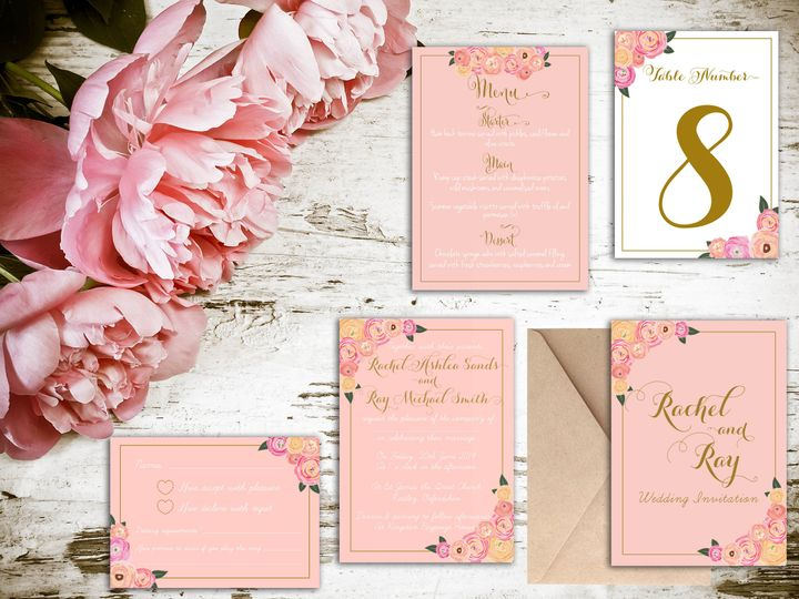 Blush Floral range