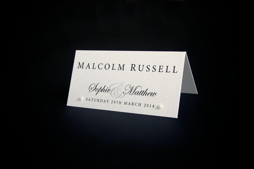 Signature Name Place Card