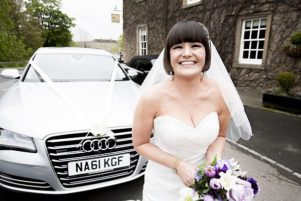 Audi A8 and a happy bride