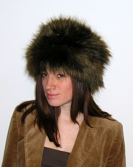 Brown Long Faux Fur Hat