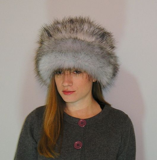 Silver Fox Faux Fur Hat