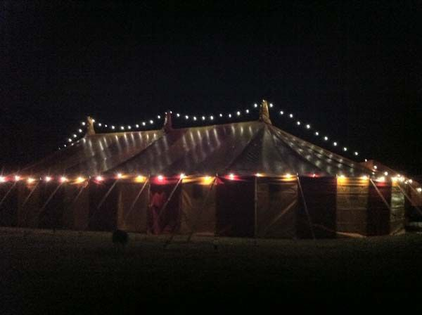 Marquee festoon lighting hire devon,cornwall,somerset