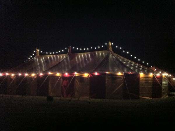 Marquee festoon lighting hire devon,cornwall,somerset
