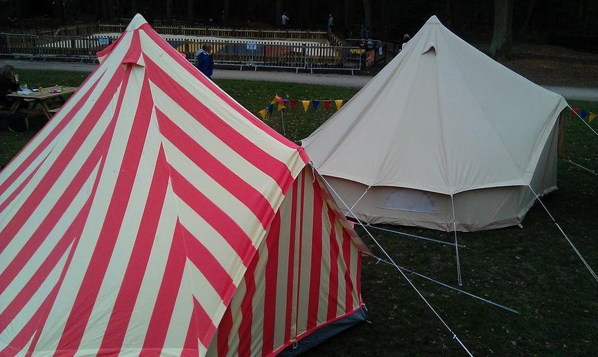 Candy striped bell tent hire & Candy striped bell tent hire from Big Top Mania | Photo 91