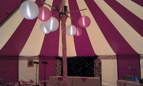Marquee party lighting hire devon cornwall