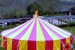 Round striped tent hire devon
