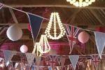 Bunting, chandelier,paper lantern hire devon