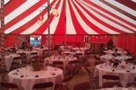 Red  and white marquee hire