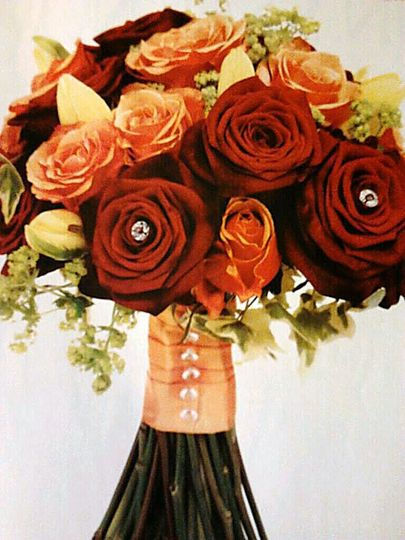 Hand tied bouquet idea