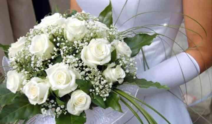 Cream roses & gyp
