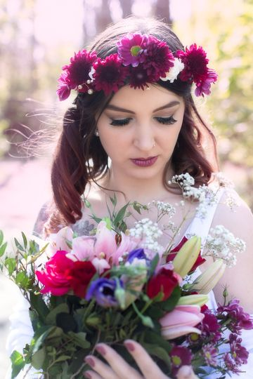 Beautiful bohemian bride
