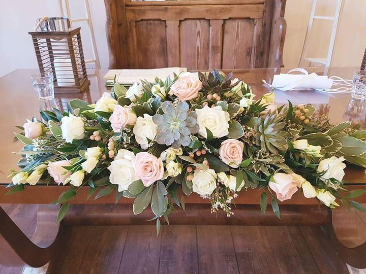 Top table with succulents