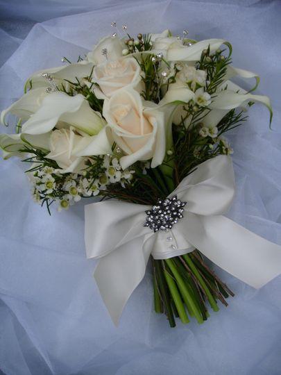 Elegant vintage calla lilies