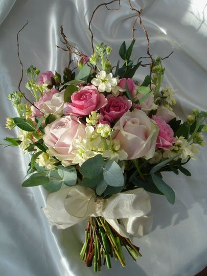 Spring boquet of pinks and creams