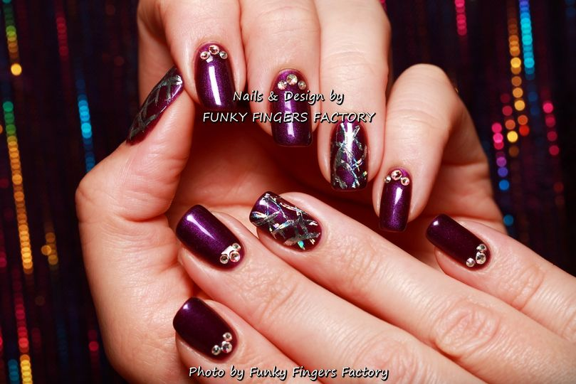 Gelish Nail Art From Funky Fingers Factory Photo 25