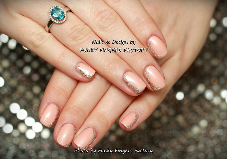 Gelish with Glitters